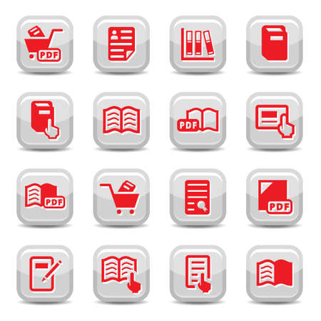 Icon Set for web and mobile. All elements are grouped. Vector