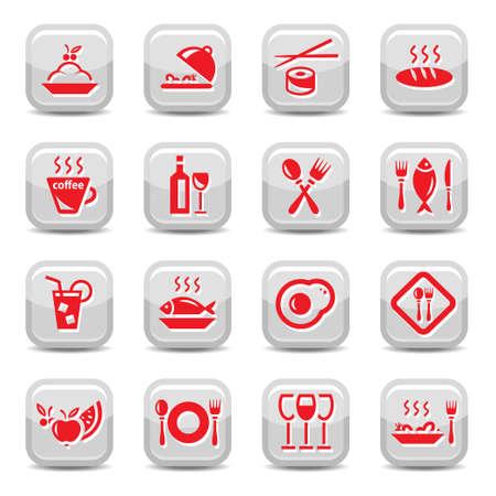 Restaurant Icon für Web und mobile Set. Alle Elemente werden gruppiert.