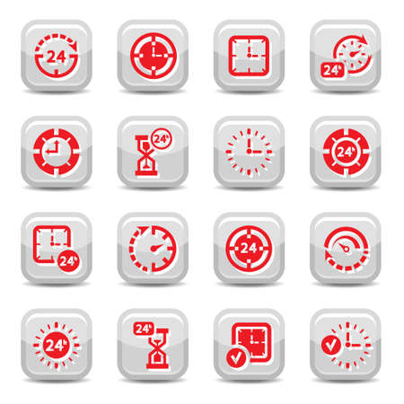 Time Icon Set for web and mobile. All elements are grouped. Ilustrace