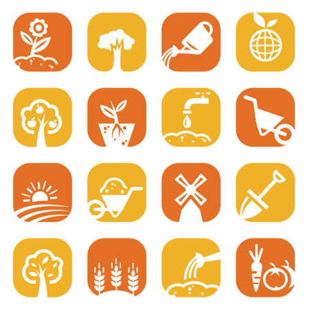 Elegant Gardening Icons Set Created For Mobile, Web And Applications  Vector
