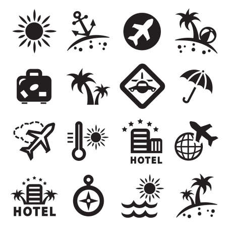 Elegant Travel Icons Set Created For Mobile, Web And Applications  Stock Vector - 19528514