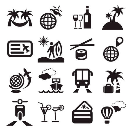 created: Elegant Travel Icons Set Created For Mobile, Web And Applications