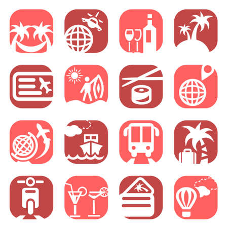 Color Travel Icons Set Created For Mobile, Web And Applications Stock Vector - 19797330