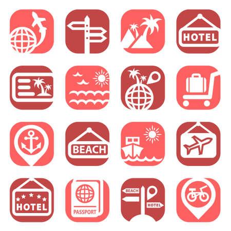 Farbe Travel Icons Set Geschaffen für Mobile, Web und Anwendungen