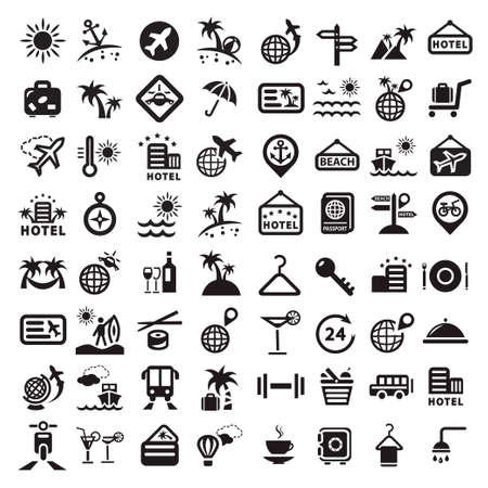 symbol tourism: Elegant Travel Icons Set Created For Mobile, Web And Applications