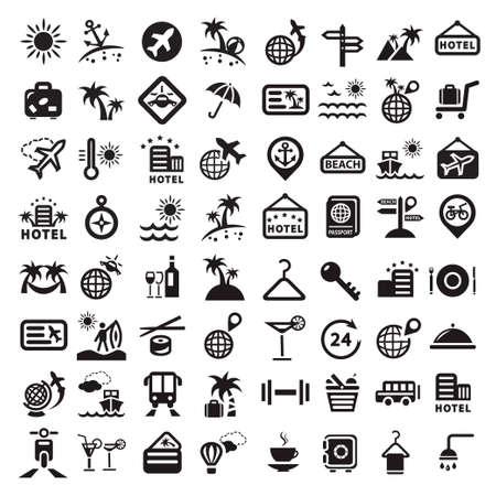 Elegante Travel Icons Set Erstellt For Mobile, Web und Anwendungen
