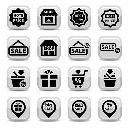 Elegant Shopping Icons Set Created For Mobile, Web And Applications  Stock Vector - 19797337