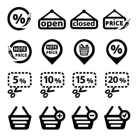 Icons Set Created For Mobile, Web And Applications  Stock Vector - 19797333