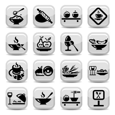 dinnerware: Elegant Food Icons Set Created For Mobile, Web And Applications