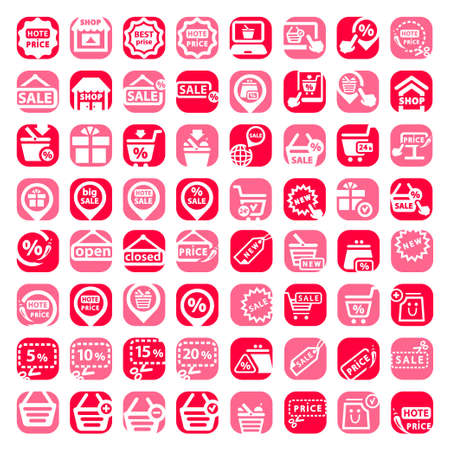Elegant Shopping Icons Set Created For Mobile, Web And Applications  Stock Vector - 20378920