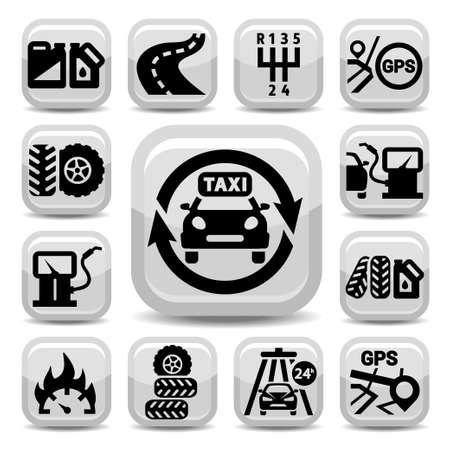 Elegant Auto Icons Set Created For Mobile, Web And Applications  Ilustração