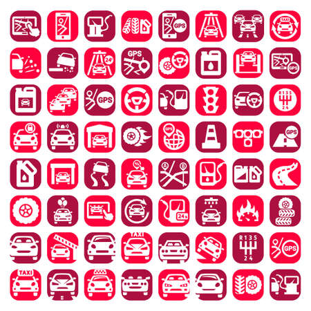 Big Color Auto Icons Set Created For Mobile, Web And Applications