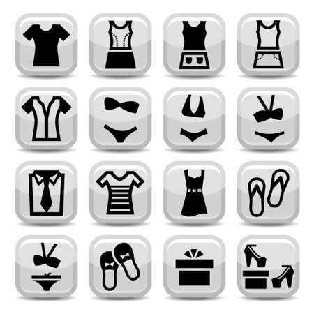 Elegant Fashion Icons Set Created For Mobile, Web And Applications. Vector