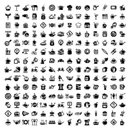 Elegante Food Icons Set Erstellt For Mobile, Web und Anwendungen Standard-Bild - 21729666