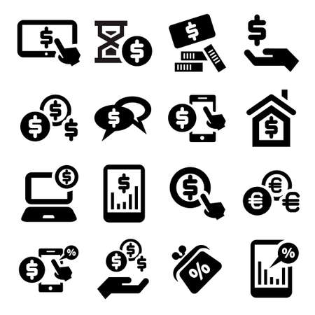 Elegant Business And Financial Icons Set. Stock Vector - 21729669