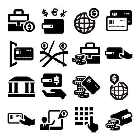 Elegant Business And Financial Icons Set. Vector