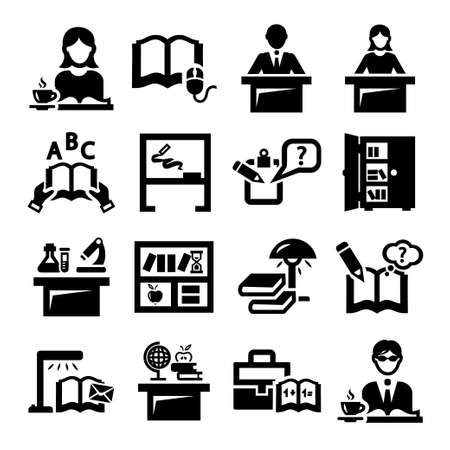 Elegant Education And School Icons Set. Stock Vector - 21729753
