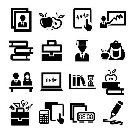 Education élégant et School Icons Set. Banque d'images - 21923639