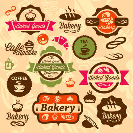 Elegant Bakery Labels And Badges Set