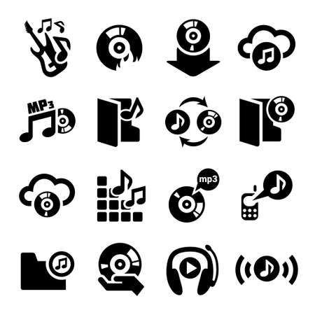 streaming: Elegant Vector Music Icon Set for web and mobile