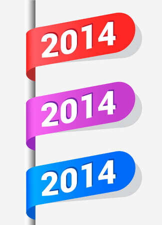 Vector Illustration  2013 New Year Labels for your design  Vector