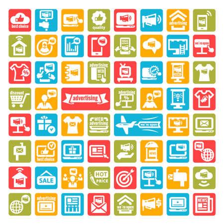 advertisement: Color Marketing und Werbung Icons Set
