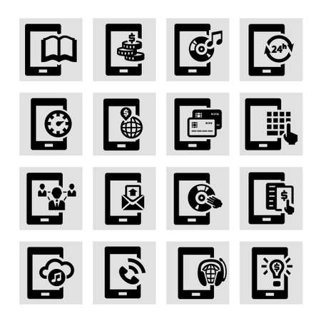 Elegant Vector Mobile  Icons Set  Vector