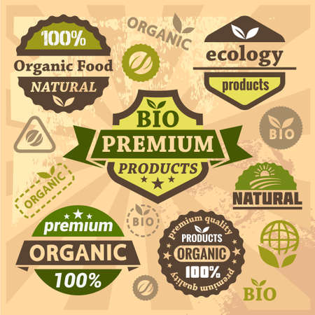 Eco And Bio Labels Collection  Vector
