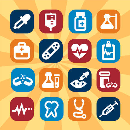 Big Medical And Health Icons Set Created For Mobile, Web And Applications  Vector