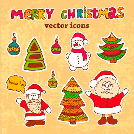 Vector Vintage Christmas Card for Holiday Design. Stock Vector - 24026546