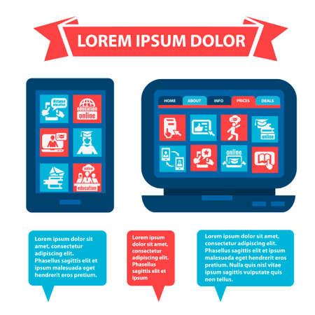 interface web: Appartement mobile et l'interface Web. �l�ments de conception.