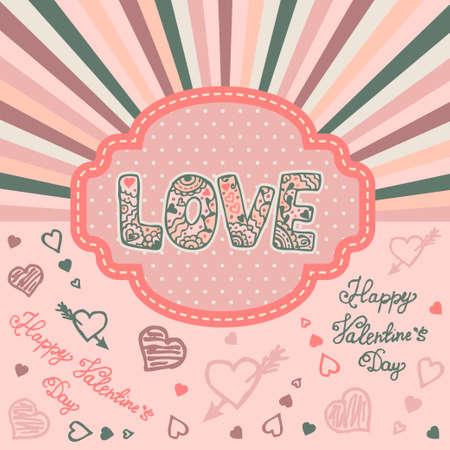 sfondo romantico: Priorit� bassa romantica per il giorno di San Valentino Sent. Illustrazione vettoriale.