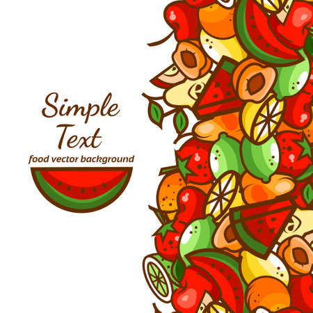 Colorfull fruit pattern background,vector illustration for your design.