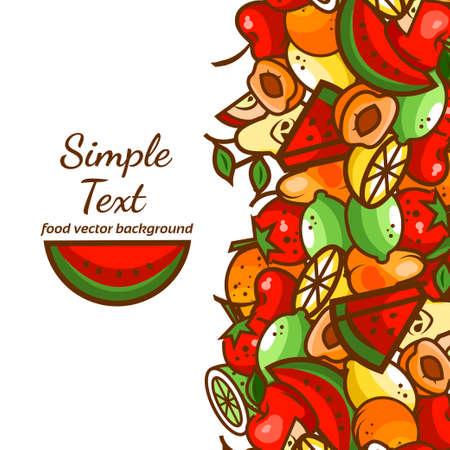 fresh apple: Colorfull fruit pattern background,vector illustration for your design.
