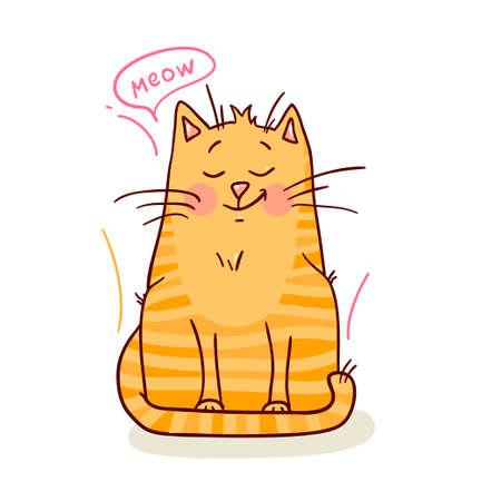 meow: cute red kitten 1 Illustration
