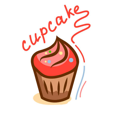 chocolate swirl: tasty cupcake 1 Illustration