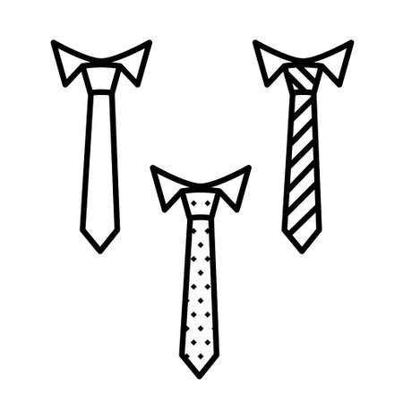 Vector business tie icon, thin line, outline and stroke style