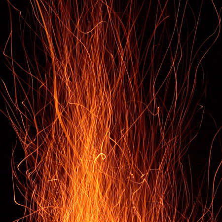 exposición: Una larga exposici�n de fotos de fuego Chispas