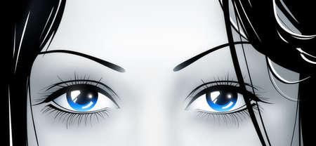 envisage: deep blue eyes