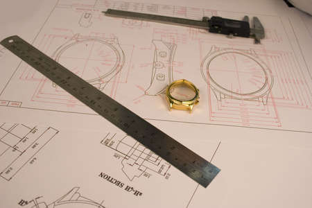 body dimensions: Work drafts of watch cases