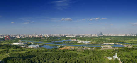 Series of panoramic views of Moscow city photo