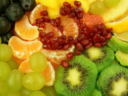 Delicious fruit salad Stock Photo