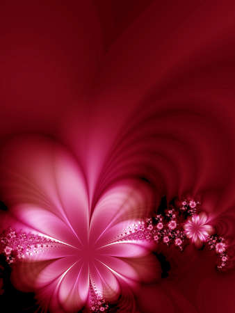 dreamlike: Wonderful flowers on black background Stock Photo