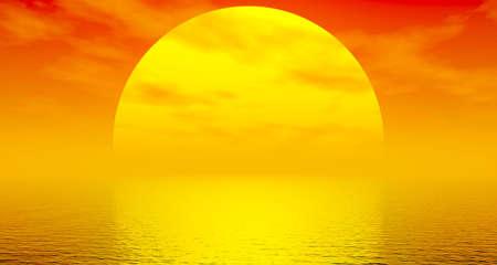 Wonderful sunset photo
