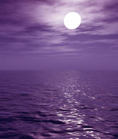 Full moon over the sea Stock Photo - 2335830