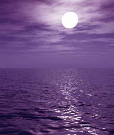 Full moon over the sea Stock Photo - 2335830