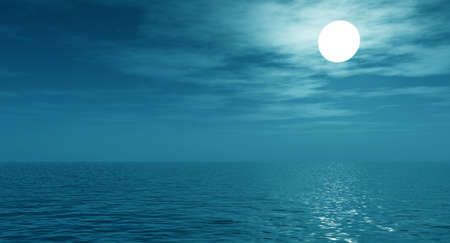 Full moon over the sea Stock Photo - 2335879