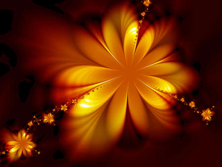 Flaming flowers Stock Photo - 2590756