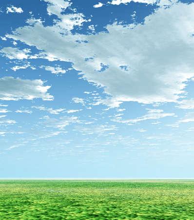 loneliness: Spring scenery Stock Photo