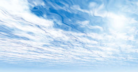 idyll: Unusual clouds Stock Photo